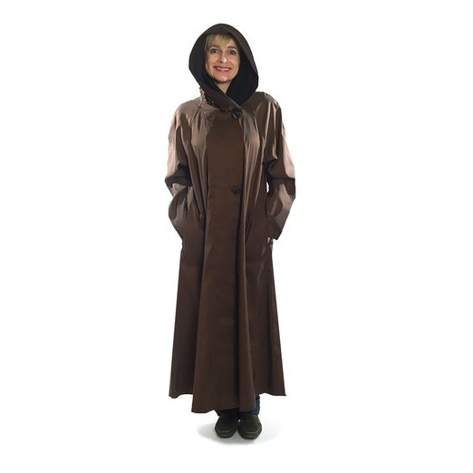 Long Women's Fashion Travel Raincoat