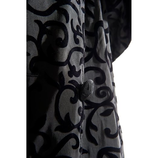 Mycra Pac Tea Length Donatella Fashion Travel Raincoat Close Up