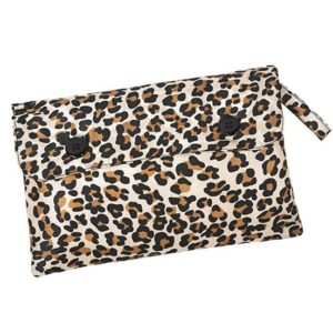 Women's Packable Raincoat - Leopard Print Bag