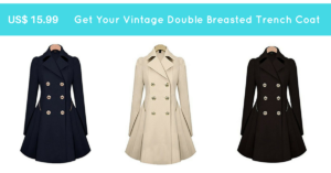 Get Your Vintage Double Breasted Trench Coat