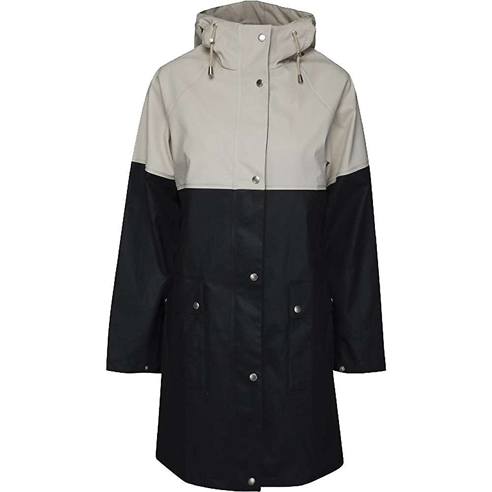 Ilse Jacobsen True Rain Rubberized Color Block Coat - Women's