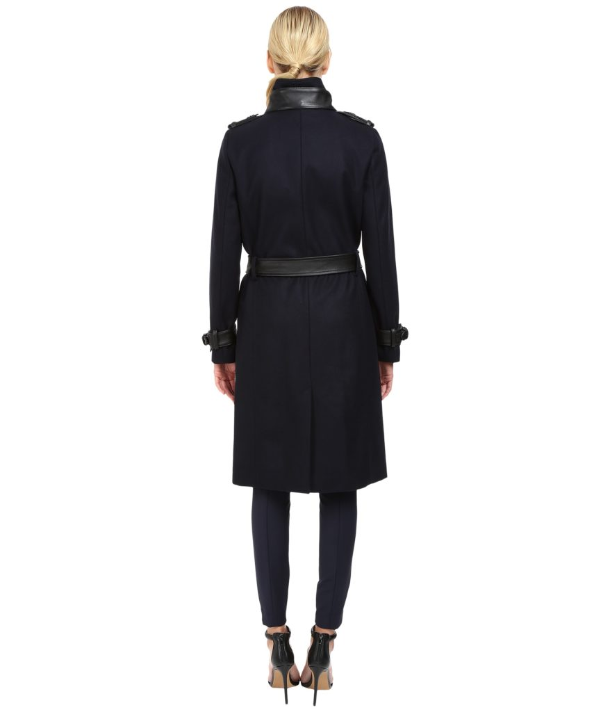 The Kooples Long Belted Trench Coat Back