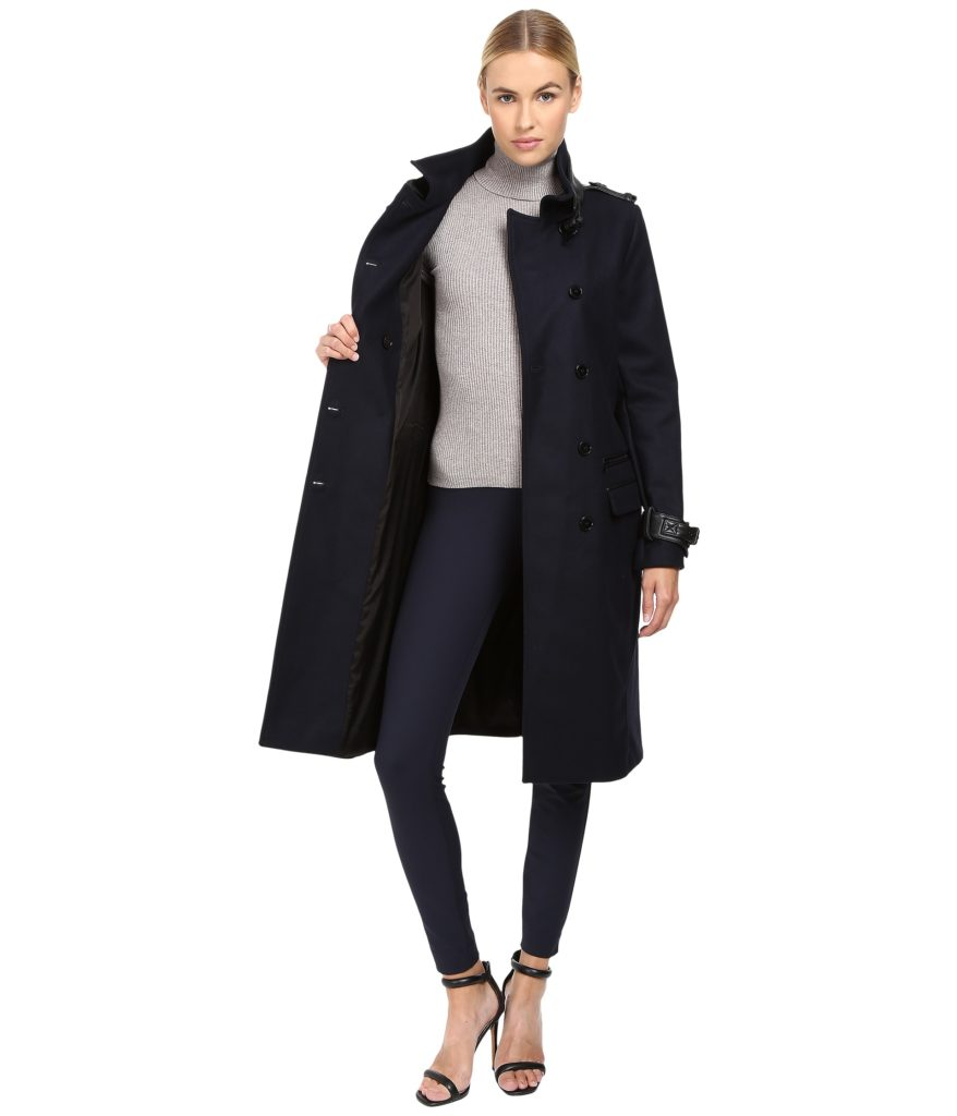 The Kooples Long Belted Trench Coat Open