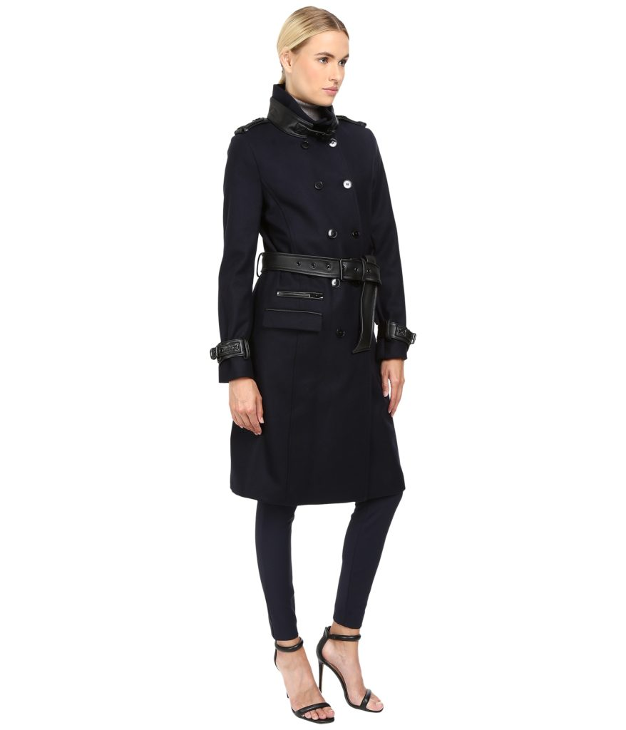 The Kooples Long Belted Trench Coat Side View