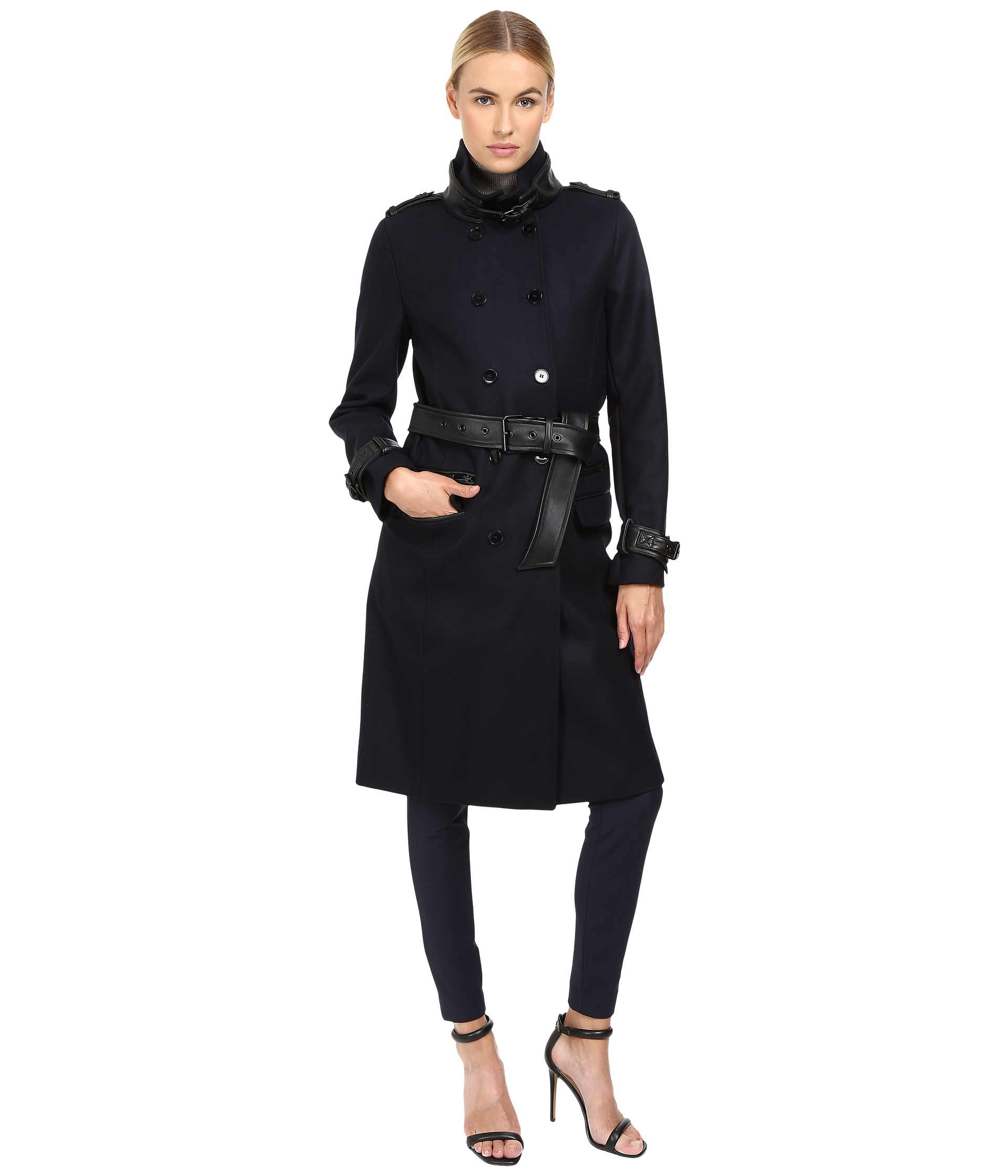 The Kooples Long Belted Trench Coat
